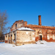 Stock Photo: Abandoned church in Rizopolozhensky monastery