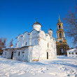 Stock Photo: Rizopolozhensky monastery at Suzdal in winter