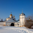 Foto Stock: Pokrovsky monastery at Suzdal in winter