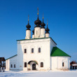 Ascension church   at Suzdal in winter — Stock Photo