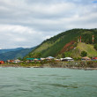 Chemal town at riverside of Katun - Foto Stock