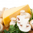 Champignon mushroom with cheese - Foto Stock