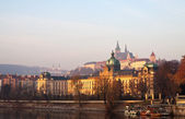 Prague from Vltava. Czech Republic — Stock Photo