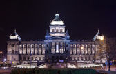 National Museum at Wenceslas Square in night — Stock Photo