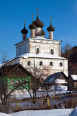 Church of the Resurrection at Gorokhovets in winter — Stock Photo