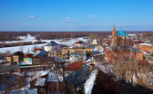 View of Gorokhovets in winter — Stock Photo
