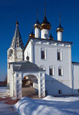 Trinity Cathedral at Gorokhovets in winter — Stock Photo