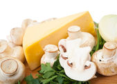 Champignon mushroom with cheese — Stock Photo