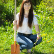 Gardening woman - Stock Photo