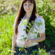 Stockfoto: Woman planting currant