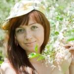 Portrait of girl in spring — Stock Photo