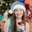 Girl celebrating Christmas - Foto de Stock