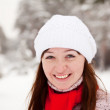 Sporty girl at winter park — Stock Photo #8094436