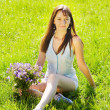 Girl in grass meadow — Stock Photo #8094525