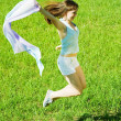 Jumping girl — Stock Photo #8094532