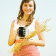 Girl with kvass — Stock Photo #8094639