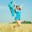 Jumping girl — Foto de Stock