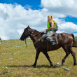Lone rider on horseback — Stock Photo #8095447