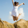 Jumping girl — Foto de stock #8095708