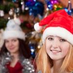 Happy girls celebrating Christmas — Stock Photo #8135213