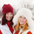 Royalty-Free Stock Photo: Smiling girls in winter