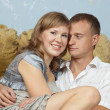 Couple in home interior — Stock Photo