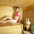 Woman    at sauna - Lizenzfreies Foto