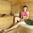 Girl  at sauna - Lizenzfreies Foto