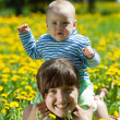 Happy mother and baby — Stock Photo #8139657