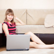 Woman looking to laptop — Stock Photo #8139824