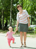 Mother with happy toddler — Stock Photo