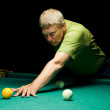 Man plays russian billiards — Stock Photo #8140088