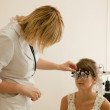 Oculist and patient — Stock Photo #8140331