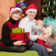 Stock Photo: Family Christmas portrait at home