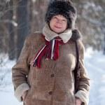 Woman wearing winter coat — Stock Photo #8140873