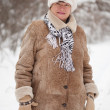 Portrait of mature woman in winter — Stock Photo #8140898
