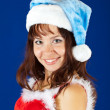 Happy girl dressed like Snow Maiden - Foto Stock