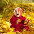 Stock Photo: Year-old baby girl in autumn park
