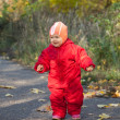 Happy toddler in autumn park — Stock Photo #8141685