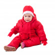 Stock Photo: Toddler in wintry clothes