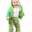 Happy toddler over white background — Stock Photo #8141724
