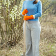 Stock Photo: Full length shot of female gardener