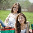Two happy women — Stock Photo #8142332