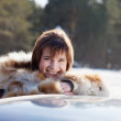 Foto de Stock  : Portrait of womnear her car