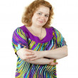 Fat unsightly woman — Stock Photo