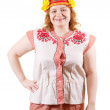 Stock Photo: F womin Russifolk clothes