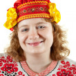 Woman in Russian folk clothes — Stock Photo #8142613
