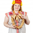 Woman in Russian traditional clothes — Stock Photo #8142615