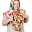 Woman in Russian folk clothes — Stock Photo #8142618