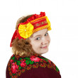 Woman in Russian traditional clothes — Foto Stock